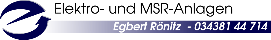 Elektro- und MSR Anlagen Egbert Rönitz